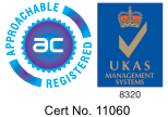 Badge showing ISO9001 Certificated.