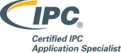 Badge showing certified to IPC-A-610.